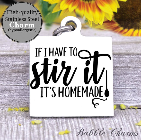 If you have to stir it it's homemade, stir it, kitchen charm, cooking charm, Steel charm 20mm very high quality..Perfect for DIY projects