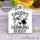 Daddy's drinking buddy, milk a holic, I love milk, milk charm, baby charm, Steel charm 20mm very high quality..Perfect for DIY projects