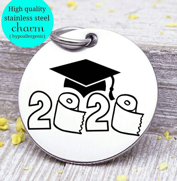Class of 2020, class of, 2020, 2020 charm, Steel charm 20mm very high quality..Perfect for DIY projects