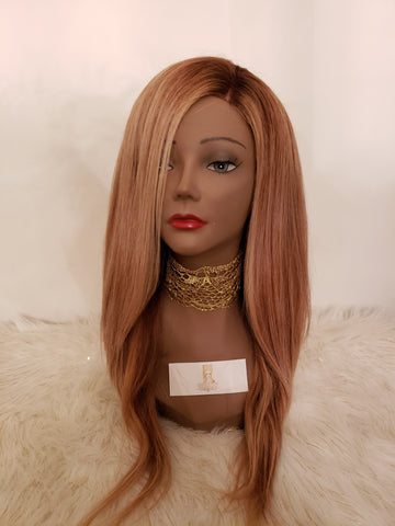 Indian Front Lace Natural Straight Wig