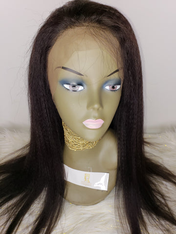 Full Front Lace Wig (Yaki Straight)