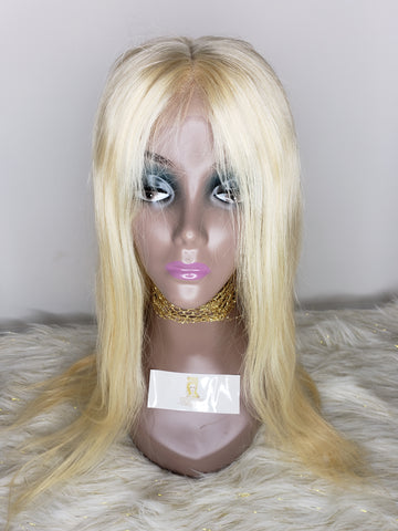 Full Front Lace Wig (613 Blonde Straight)