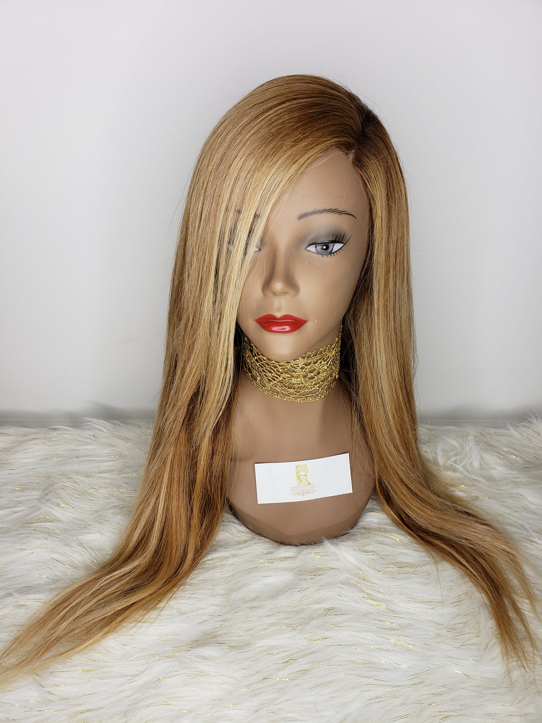 360 Lace Wig (Brown/Honey Blonde Ombre Straight)