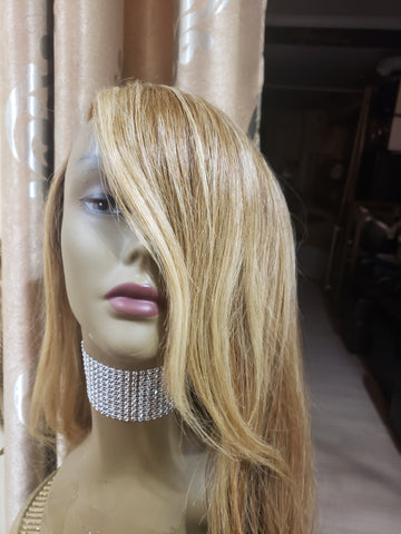 Indian Front Lace Wave Wig Side Part