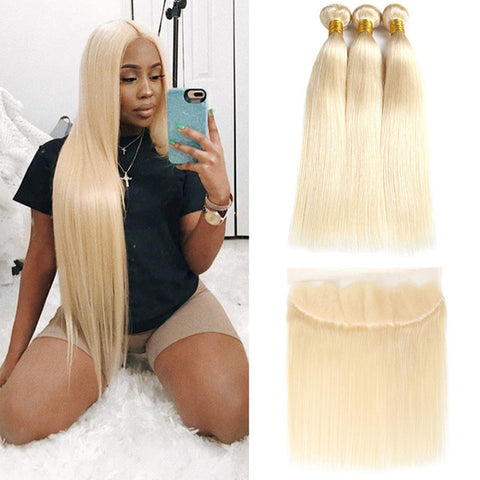 Peruvian 613 Blonde Straight