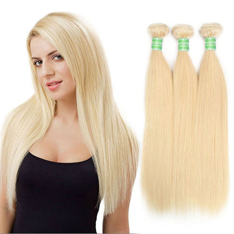 Raw Indian Straight Blonde Hair