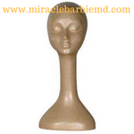 Female Suntan Styrofoam Mannequin Head