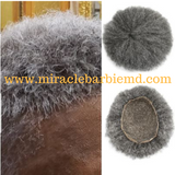 Salt and Pepper Afro Kinky Gray Unit