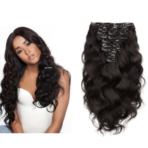 Raw Indian Wavy Clip-ins