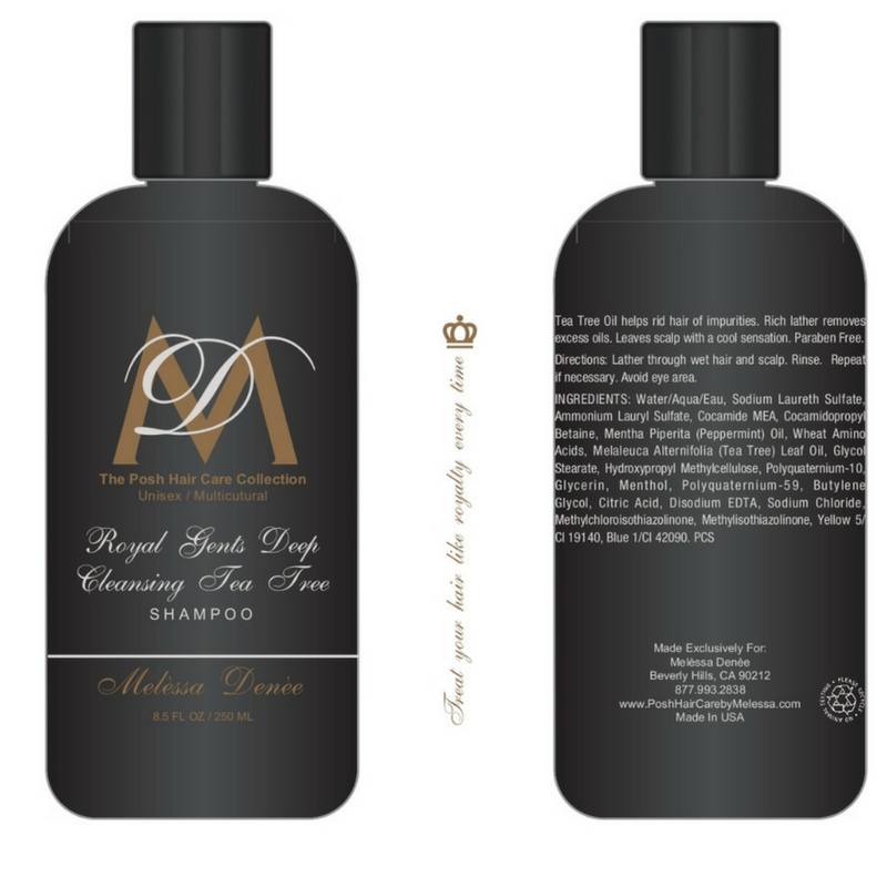 Royal Gents Deep Cleansing Tea Tree Shampoo