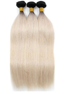 Brazilian Platinum Blonde Ombre Straight
