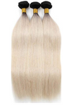 Russian 1B Platinum Blonde Ombre Straight