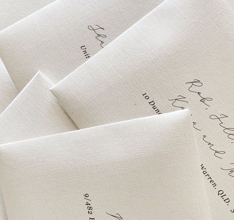 Linen envelope with printing
