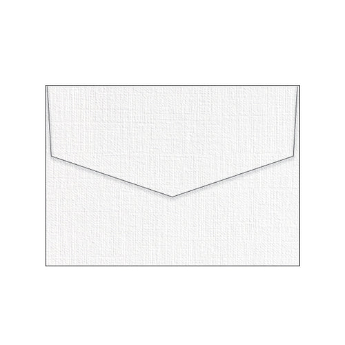 white texture linen wedding envelope