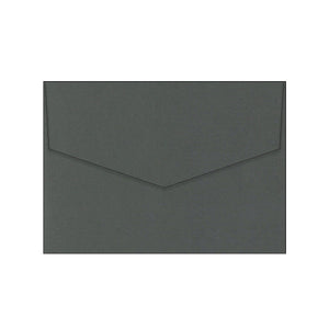 dark grey charcoal wedding envelope