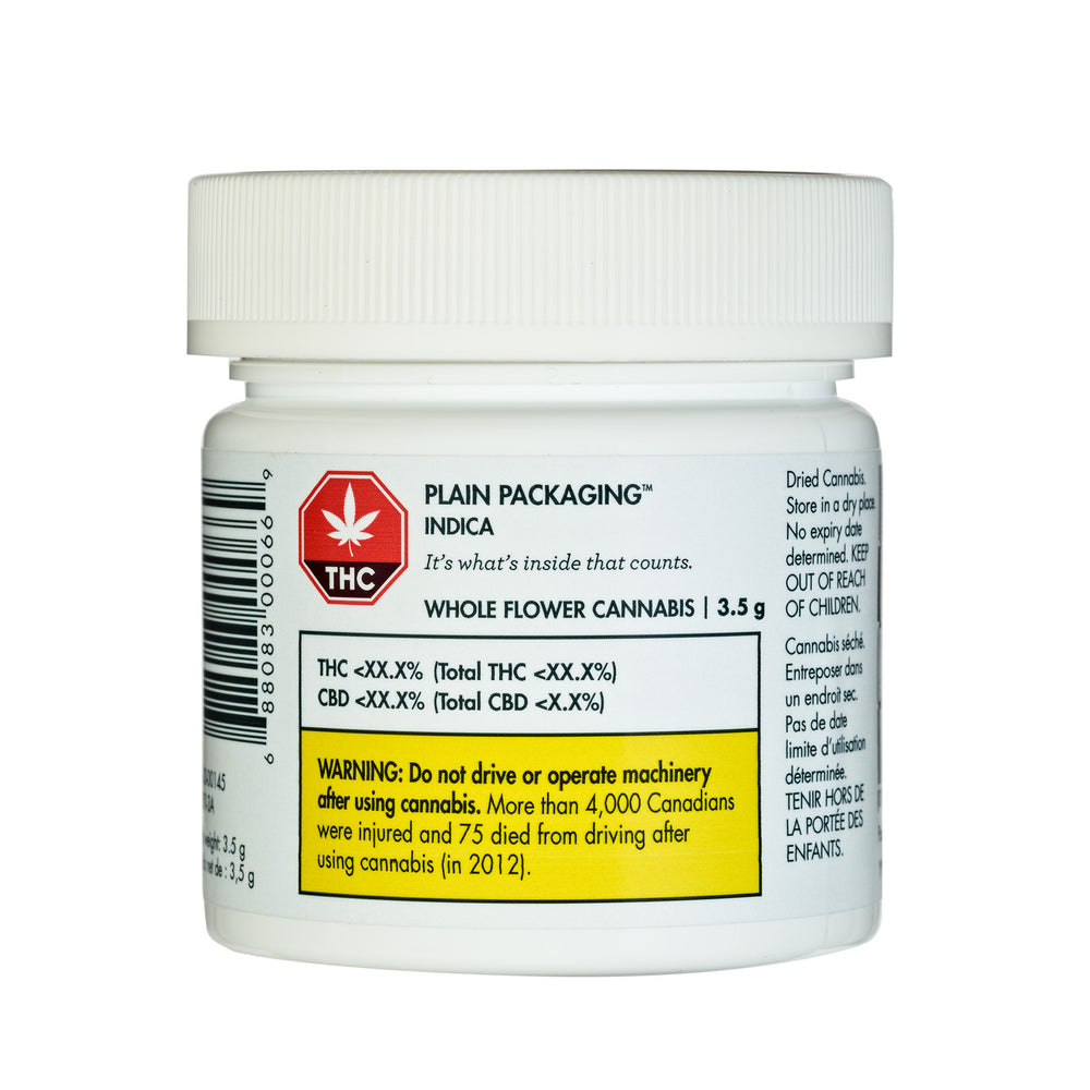 Plain Packaging Indica Dried Flower