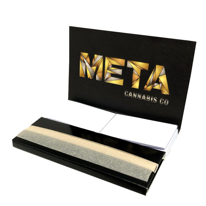 "META 1 1/4"" Hemp Rolling Papers w/ Crutches"