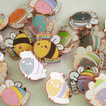 Pride Bee Enamel Pin