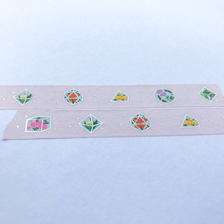 Terrarium Dice Foil Washi Tape