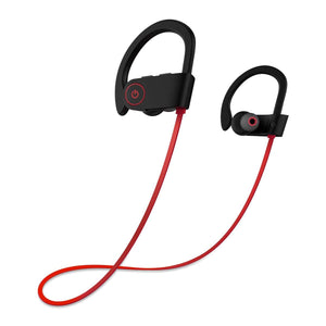 U8 Wireless Bluetooth Sports Headphones - Red (IPX4 Waterproof) - audioireland.ie