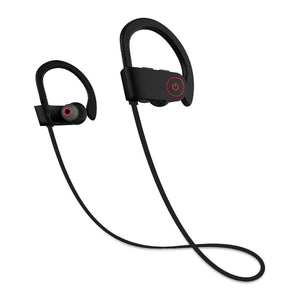 U8 Wireless Bluetooth Sports Headphones - Black (IPX4 Waterproof) - audioireland.ie
