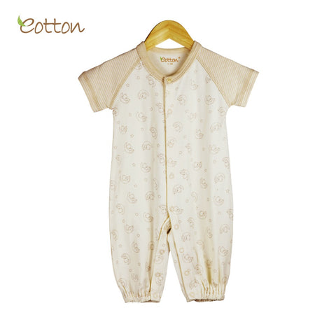Eotton Organic Baby Onesies - short sleeve - one piece - lullaby print