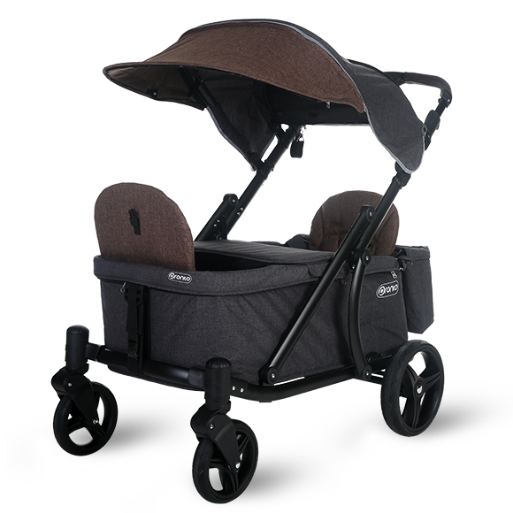 Pronto One Strollerwagon - Brown with black frame - Starter package