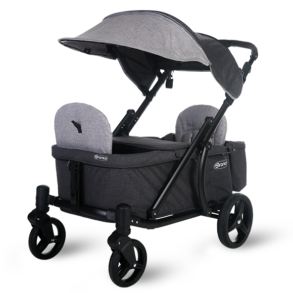 Pronto One Strollerwagon - Grey with black frame – Starter package
