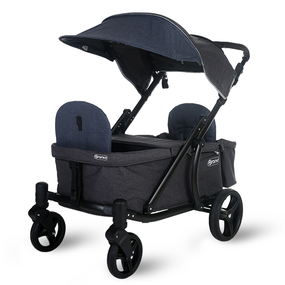 Pronto One Strollerwagon - Navy with black frame - Starter package