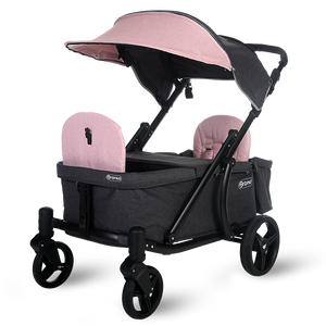Pronto One Strollerwagon - Pink with black frame - Starter package