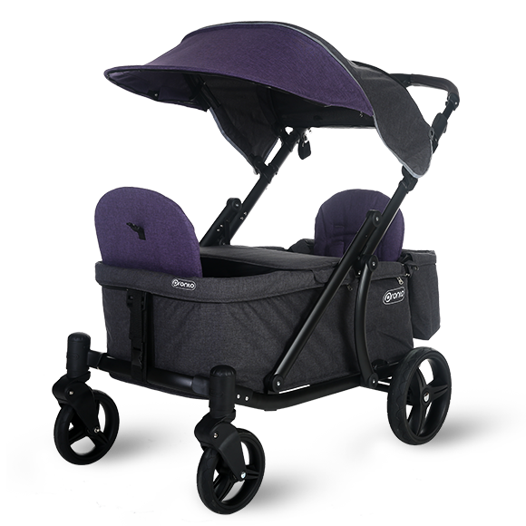 Pronto One Strollerwagon - Purple with black frame - Starter package