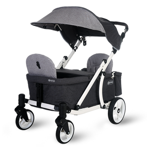 Pronto One Strollerwagon - Grey with white frame - Starter package