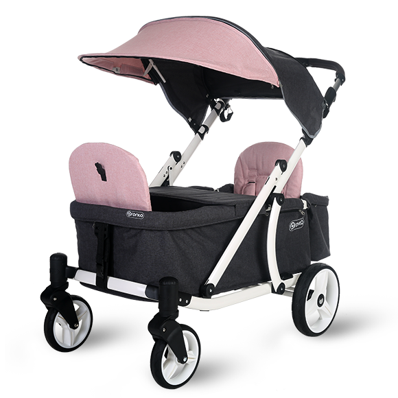 Pronto One Strollerwagon - Pink with white frame - Starter package