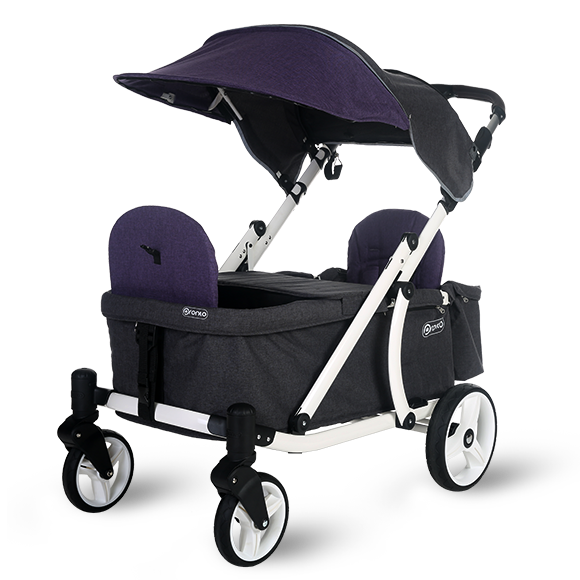 Pronto One Strollerwagon - Purple with white frame - Starter package