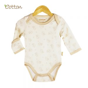 Eotton Organic Baby Onesies - long sleeve pullover - lullaby print