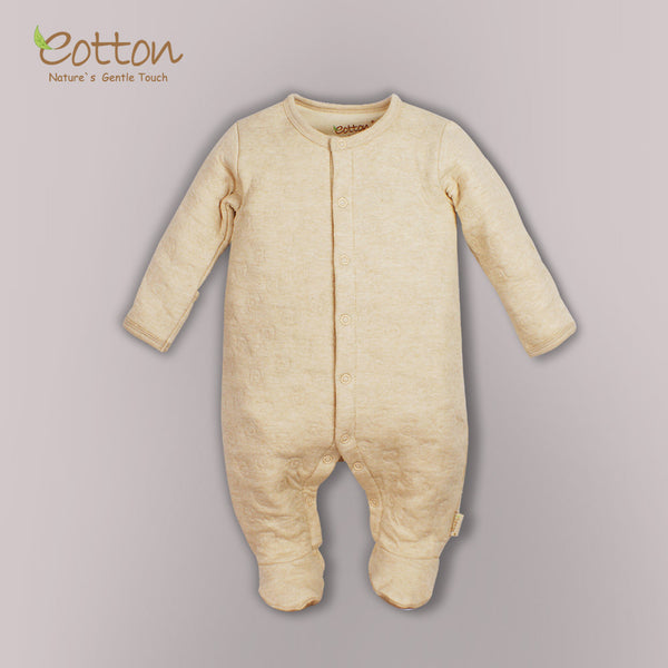 Eotton Organic Baby Romper - long sleeve -footed romper - Airlayer fabric