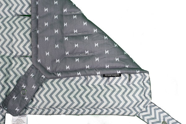 Strollerwagons Liner for Keenz 7s - Chevron/Lightning bolts
