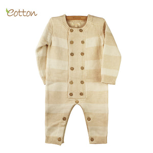 Eotton Certified Organic Baby Toddler Cable Knit Long Sleeve Sweater Romper
