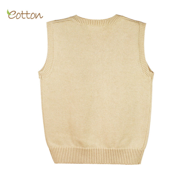 Eotton Organic Baby Toddler Cable Knit Vest