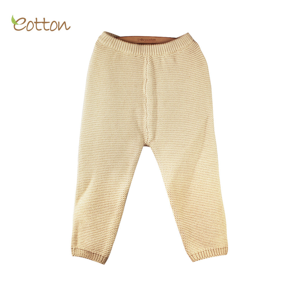 Eotton Organic Baby Toddler Cable Knit Sweater Pants