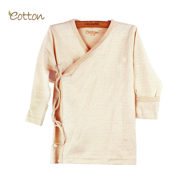 Copy of Eotton Organic Baby Kimono style tie up tee/top - 3 prints