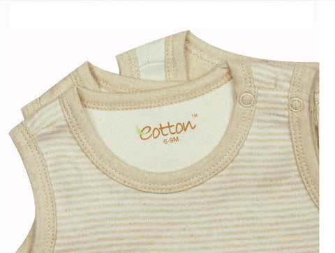 Eotton Organic Baby Tank Top Onesie - muscle bodysuit - 3 prints