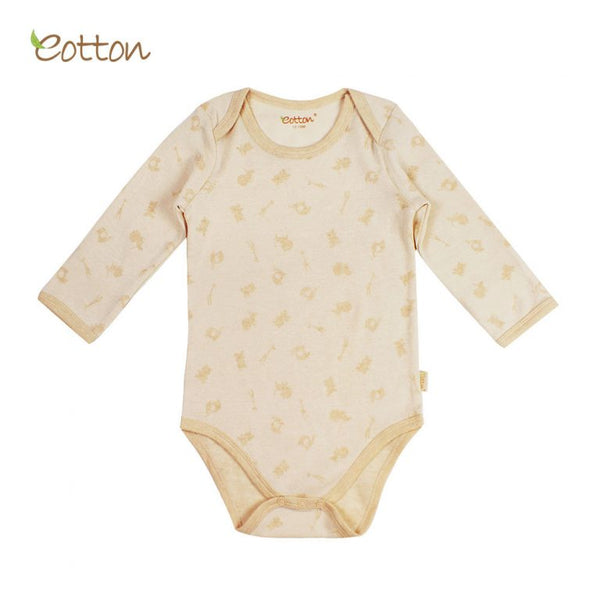 Eotton Organic Baby Long Sleeve Onesie - Jungle Party Print