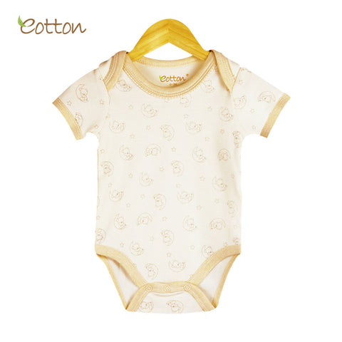 Eotton Organic Baby Onesies - short sleeve - lullaby print