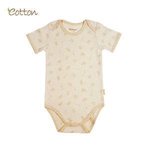 Eotton Organic Baby short Sleeve Onesie - Jungle Party Print