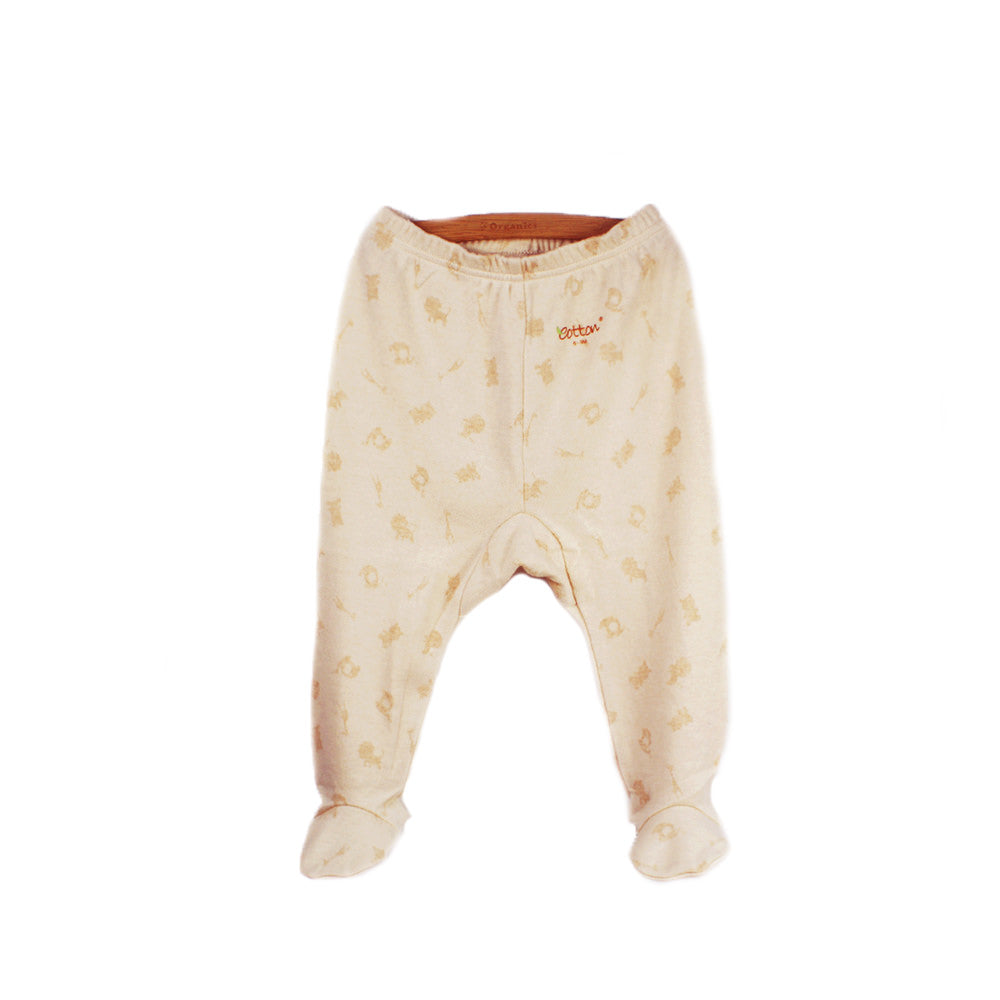 Eotton Organic Baby Footed pants - Jungle party print