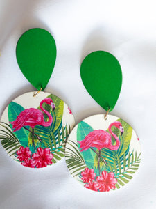 tropical (wood earrings)