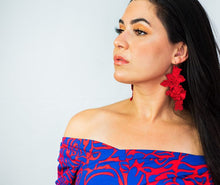 Red Garden earrings by Vida Battaglia