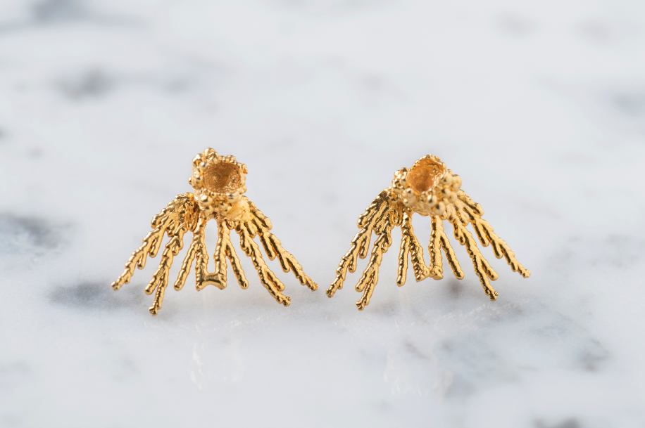 Earrings Acropora Gold