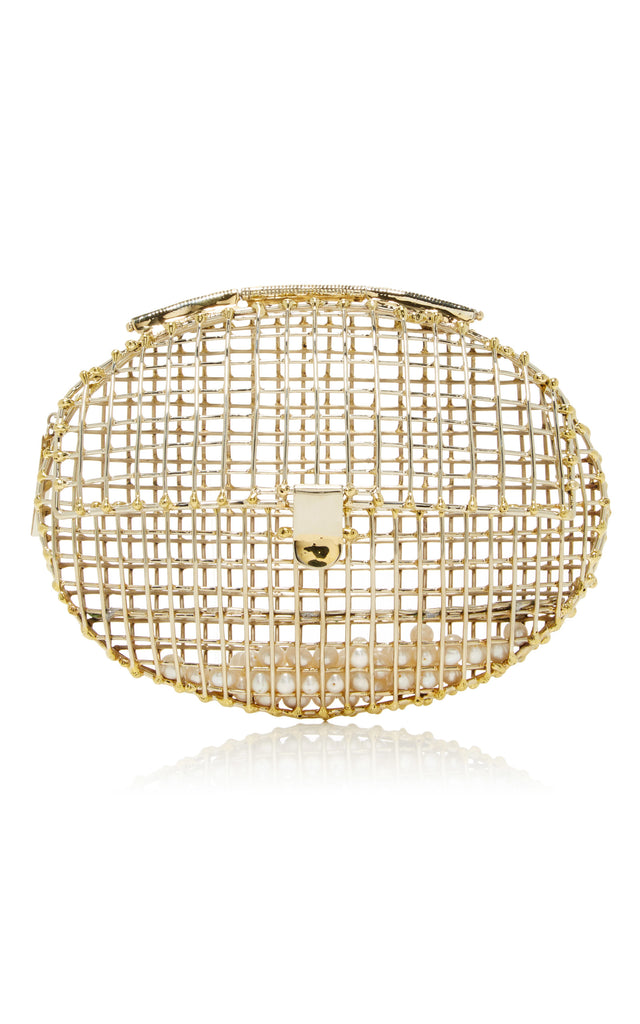 Half Cage Oval Clutch